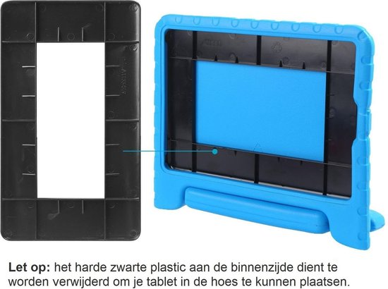 iPad 2018 Kinderhoes Kidscase Cover Hoesje Met Screenprotector - Blauw