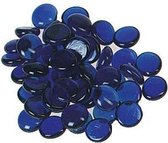 Marbles flat christal 253 gr dia. 6 x 16 mm dark blue