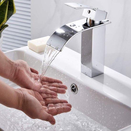 Bol Com Koen Waterval Badkamer Kraan Wastafels Mixer Kraan Koud En Warm Water Kraan