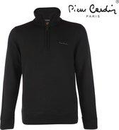 Pierre Cardin - Heren Sweater met rits - Zwart