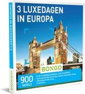 Bongo Bon Nederland - 3 Luxedagen in Europa Cadeaubon - Cadeaukaart cadeau voor man of vrouw | 900 stadhotels