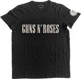 Guns n Roses Heren Tshirt -XL- Logo & Bullet Circle Zwart