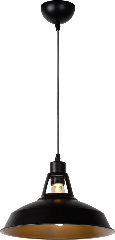 Lucide BRASSY-BIS - Hanglamp - Ø 31 cm - 1xE27 - Zwart