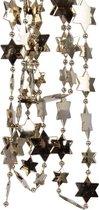 Kerstslingers sterren kralen kasjmier bruin 270 cm 3 stuks- Guirlande kralenslingers - Kasjmier bruine kerstboom versieringen