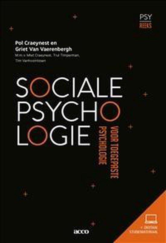 Sociale Psychologie voor Toegepaste Psychologie - Pol Craeynest |