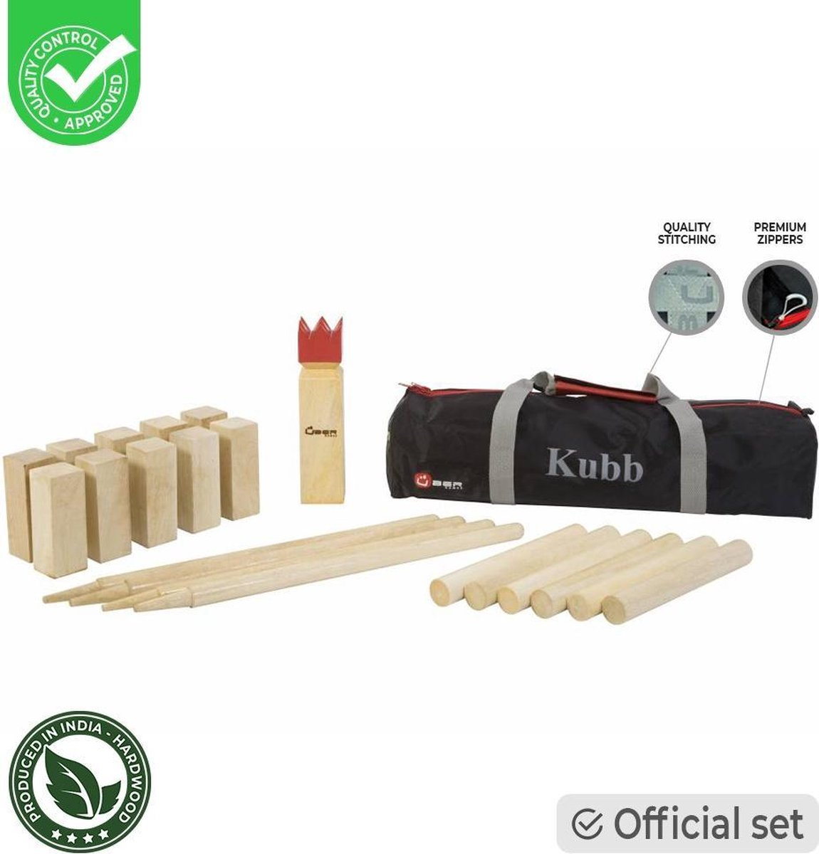 KUBB - Official - Luxe tas - hardhout Top Kwaliteit