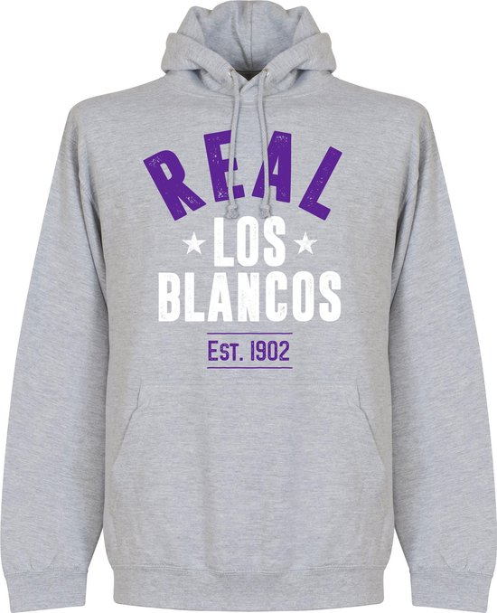 Real Madrid Established Hooded Sweater - Grijs - L