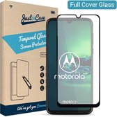 Just in Case Full Cover Tempered Glass voor Motorola Moto G8 Plus - Zwart