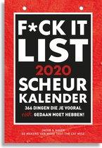 Afbeelding van F*ckit-list Scheurkalender 2020
