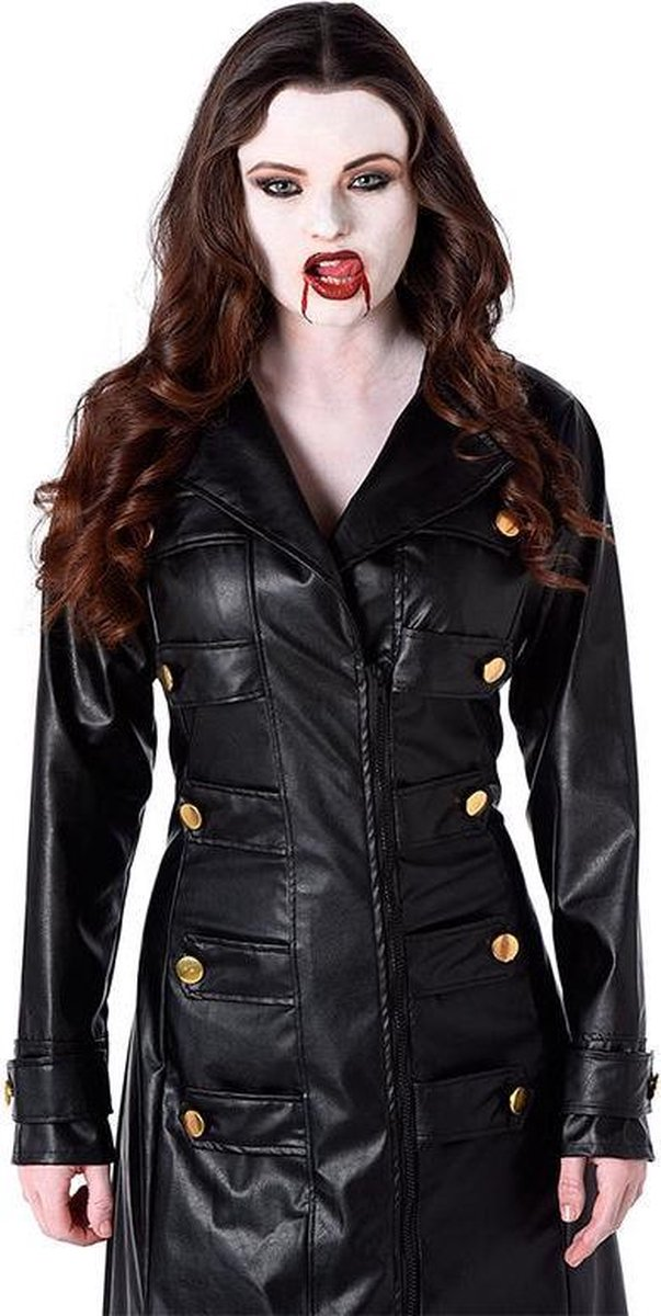 KARNIVAL COSTUMES Vampier gothic jas voor vrouwen S Volwassenen kostuums