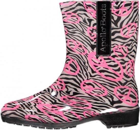Bellatio Halfhoge dames regenlaarzen zebra 37