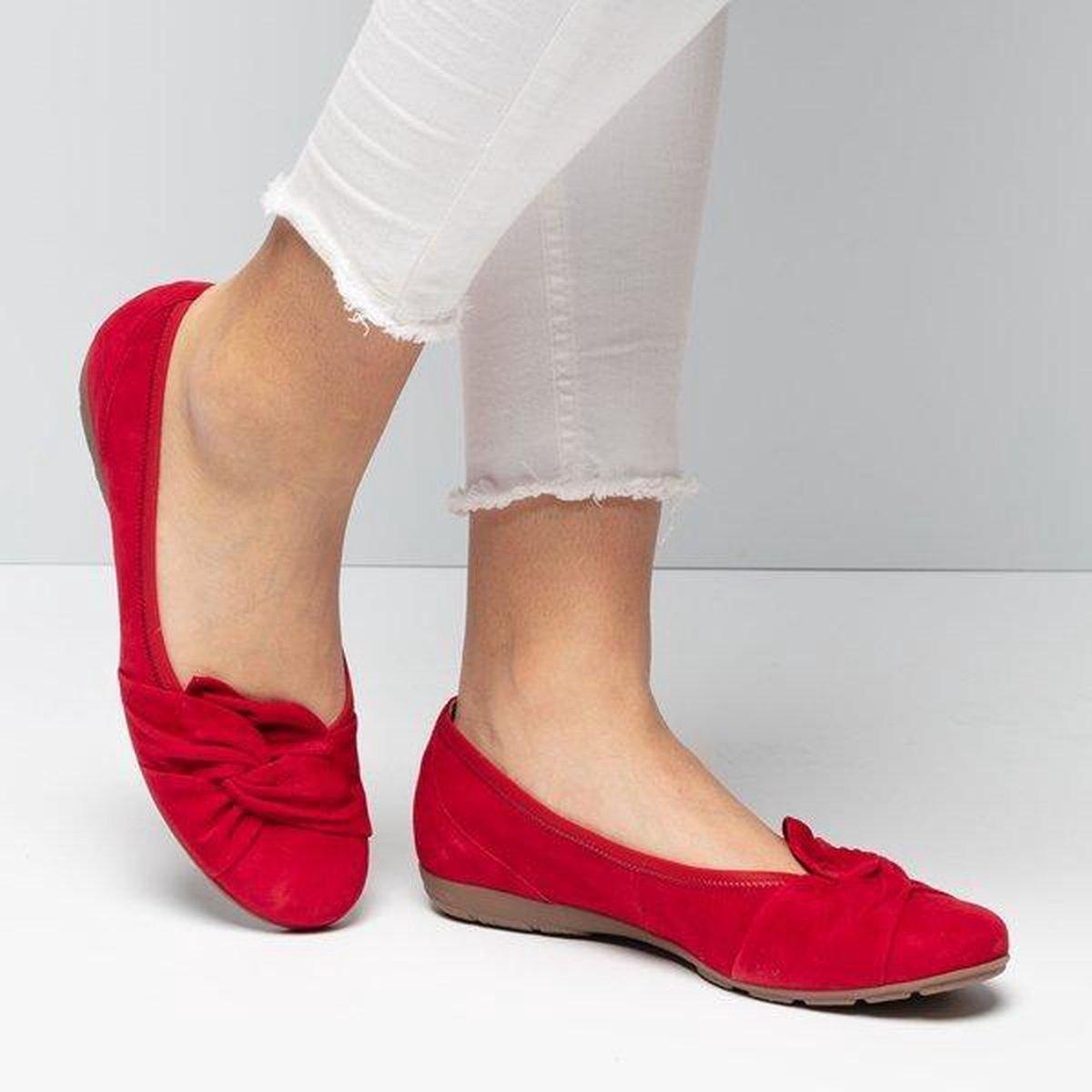 Gabor Instappers rood - Maat 37.5 Ballerina's