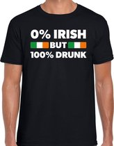 St. Patricks day not Irish but drunk t-shirt zwart heren - St Patrick's day kleding - kleding / outfit L