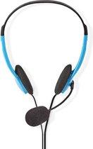 Headset met Microfoon - On-Ear - Verstelbare hoofdband - Blauw