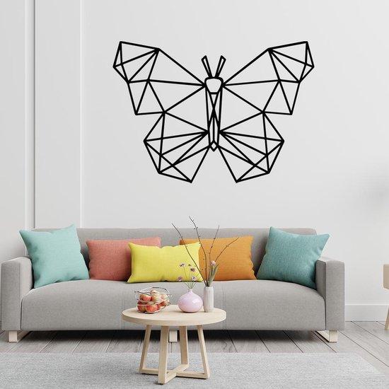 Bol Com Origami Muursticker Vlinder Zwart Muurstickers Woonkamer Stickers Muur