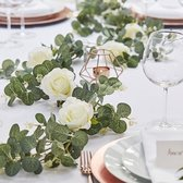 Botanical Wedding - Slinger Eucalyptus 2 meter met witte bloemen