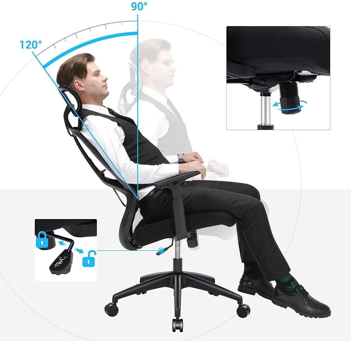 Nancy's Luxe Ergonomische Bureaustoel - Mesh - Verstelbaar - Bureaustoelen
