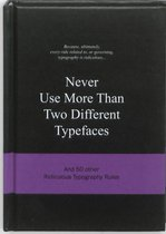 Never Use More Than Two Different Typefaces