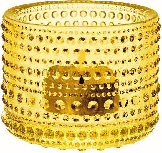 Iittala Kastehelmi - Waxinelichtjeshouder 6.4 x 8 x8 cm - Limoen