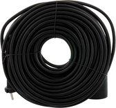 Exin Verlengsnoer - 20 meter - 2 x 1mm² - Zwart