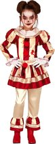 FIESTAS GUIRCA, S.L. - Angstaanjagend rood en wit clown kostuum voor meisjes - 122/134 (7-9 jaar) - Kinderkostuums
