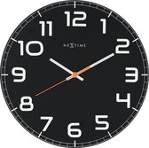 NeXtime Classy Round  - Klok - Rond - Glas - Ø30 cm - Zwart