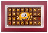 Weible chocolade smiley-tablet in giftbox - 13 x 7 cm