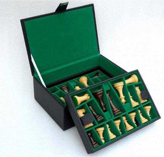 Afbeelding van het spel Lederen Koffer Schaakstukken  Top Kwaliteit