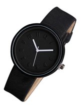 Hidzo Horloge - ø 37 mm - Zwart - Kunststof - In Horlogedoosje