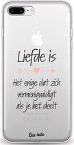 Apple iPhone 7 Plus / iPhone 8 Plus hoesje Liefde is Casetastic Smartphone Hoesje softcover case