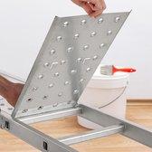 relaxdays vouwladder - multifunctionele ladder 4x3 - dubbele trap - inklapbaar - platform 3,6 m