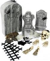 24-delige kerkhof set met grafstenen