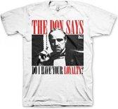 Godfather Loyalty t-shirt heren wit 2xl