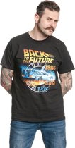 Back To The Future Heren Tshirt -XXL- Time Zwart