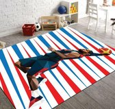 Herms-NBA Basketball 3-Vloerkleed -Antislip -150x230 cm