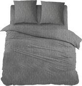 Snoozing Brigitte - Dekbedovertrek - Lits-jumeaux - 240x200/220 cm + 2 kussenslopen 60x70 cm - Antracite