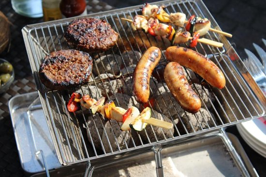 United Entertainment Opvouwbare BBQ RVS Barbecue Met