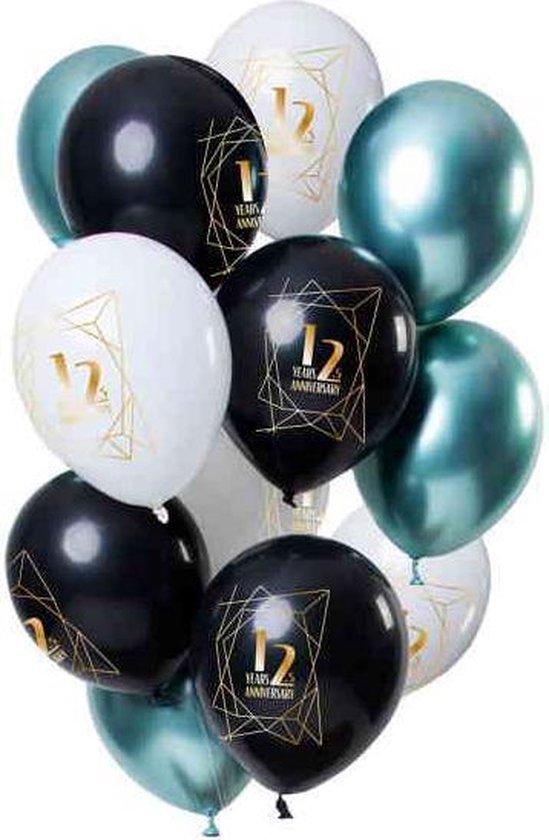 Ballonnen Jubileum 12,5 Jaar 12 stuks