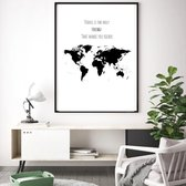 Poster met Quote/Tekst 'Travel is the only thing that makes you Richer' - A3 Poster 29x42cm