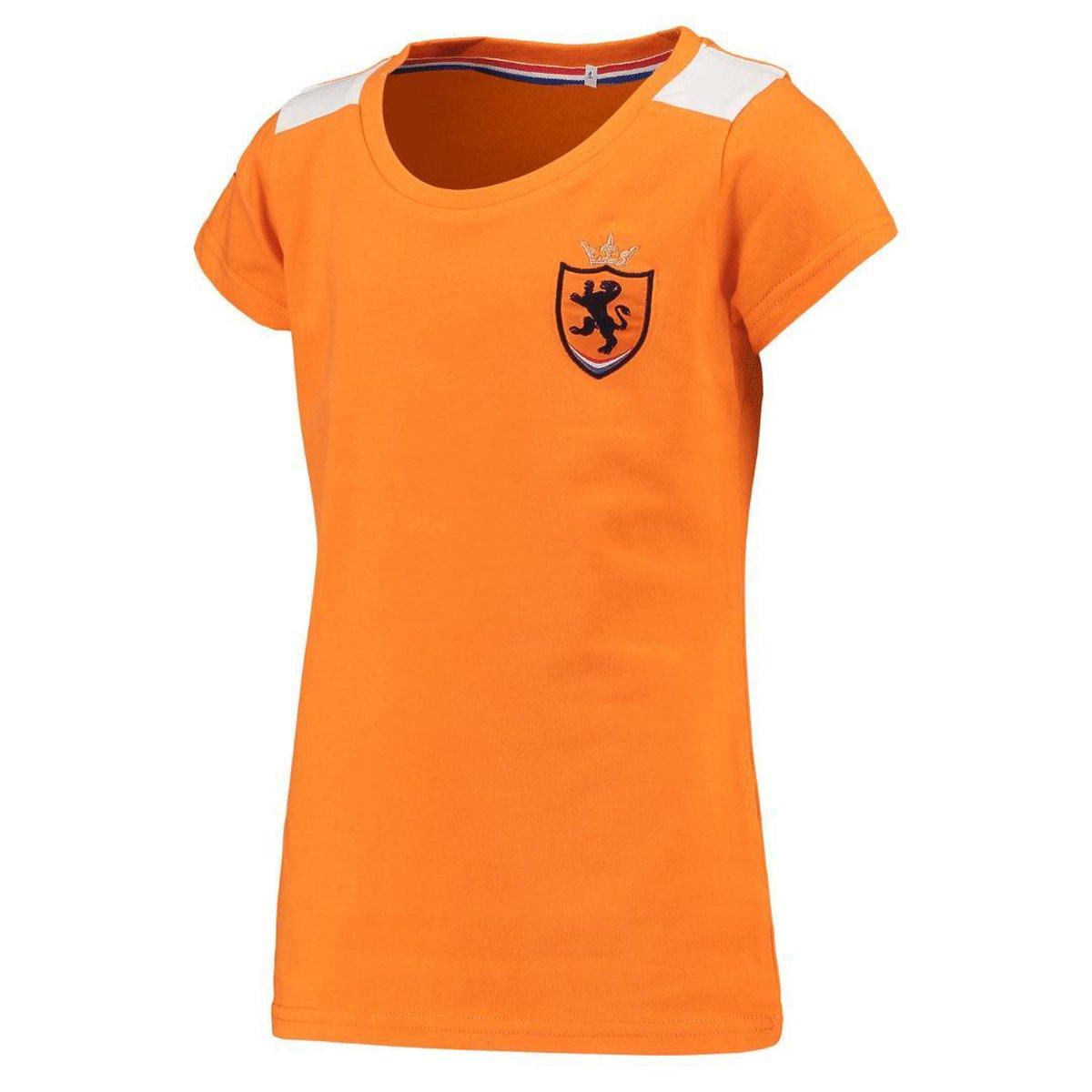 Oranje dames t-shirt - 100% polyester - Holland shirt - Leeuwinnen - maat S