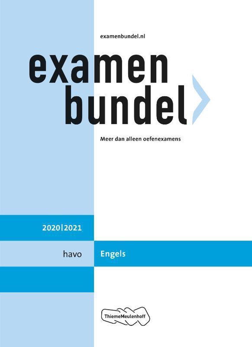 Examenbundel havo Engels 2020/2021