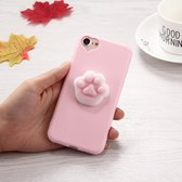 Let op type!! For iPhone 6 & 6s 3D Paw Print Pattern Squeeze Relief Squishy Dropproof Protective Back Cover Case