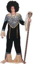 Jungle & Afrika Kostuum | Inboorling Man Smurfafa Kostuum | Maat 52-54 | Carnaval kostuum | Verkleedkleding