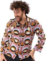 Hippie Kostuum | Jaren 70 Hippie Soul Disco 60s Psychedelische Ogen Shirt Man | Large | Carnaval kostuum | Verkleedkleding
