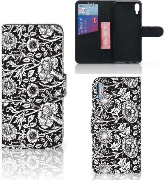 Sony Xperia L3 Hoesje Black Flowers