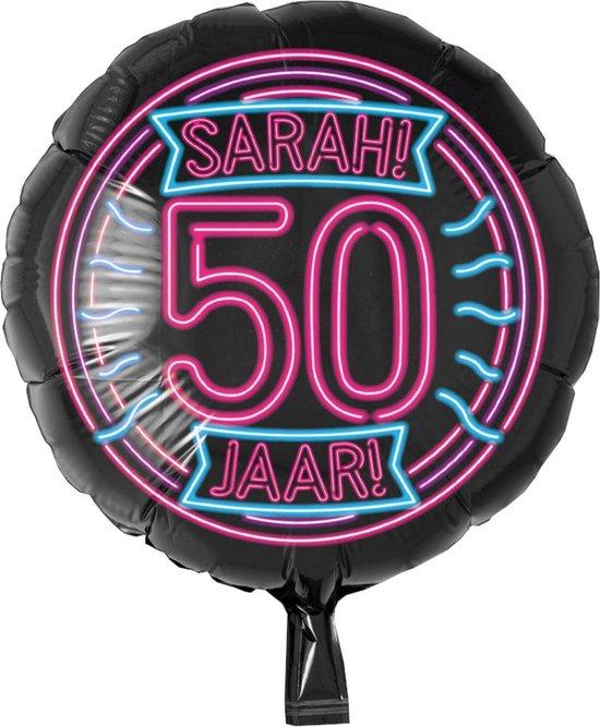 Folieballon - 50 Jaar - Sara - Neon - Zonder vulling