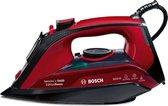 Bosch TDA503011P Stoomstrijkijzer Ceranium Glissée zoolplaat 3000W Zwart, Rood
