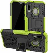 Samsung Galaxy A20e hoes - Schokbestendige Back Cover - Groen