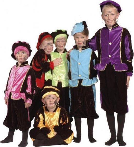 Luxe blauwe Pieten kostuum voor kinderen 4-6 jaar