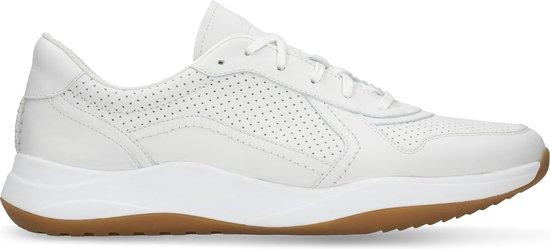 Clarks - Herenschoenen - Sift Speed - G - white leather - maat 8,5